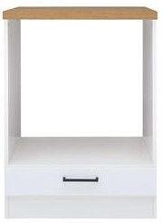 Нижний кухонный шкаф Black Red White Junona Line DPK/60/82 White/Sonoma Oak, 600x510x820 мм