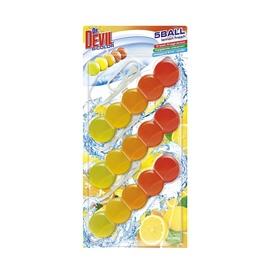 Rippuv WC-värskendaja Dr. Devil Bicolor 5 Ball, 3 x 35 g