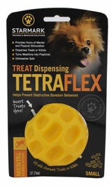 Mänguasi koerale Starmark Treat Dispensing Tetraflex S Yellow