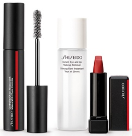 Shiseido ControlledChaos MascaraInk 01 + ModernMatte Powder Lipstick 516 + 30ml Instant Eye And Lip Makeup Remover