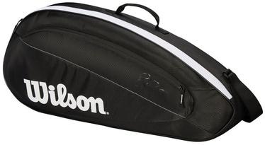 Wilson Fed Team Bag For 3 Rackets Black/White