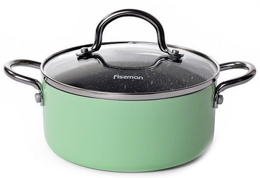 Fissman Mini Chef Casserole With Glass Lid D16cm 1.3l Green
