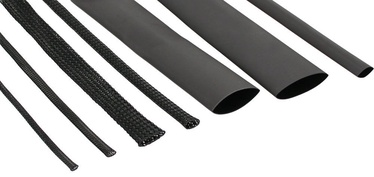 InLine Cable Sleeving+Shrink Tubing Set Black