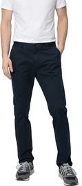 Audimas Tapered Fit Cotton Chino Pants Navy Blue 184/52