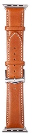 Dbramante1928 Copenhagen Strap For Apple Watch 38mm Tan/Silver