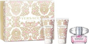 Komplekt naistele Versace Bright Crystal 50 ml EDT + 50 ml Body Lotion + 50 ml Shower Gel