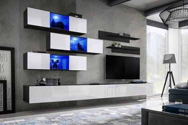 ASM Fly K3 Living Room Wall Unit Set White/Black
