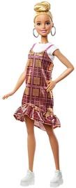 Nukk Mattel Barbie Fashionistas Blonde Updo Hair & Shimmery Plaid Dress GHW56