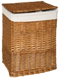 Home4you Laundry Basket Max 45x34xH59cm Light Brown