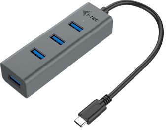 I-Tec USB-C Metal 4-port HUB, 4x USB 3.0 port