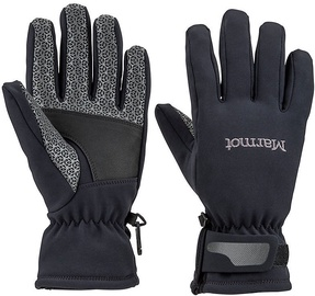 Marmot Womens Gloves Glide Softshell Black M