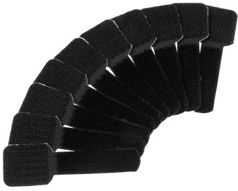 Label The Cable PRO Wall Velcro Cable Holder Set of 50 Black