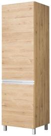 Bodzio Monia High Rise Refrigerator Cabinet 60 Right Brown