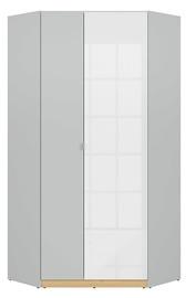 Гардероб Black Red White Nandu Gray/Oak/White, 93x93x200.5 см