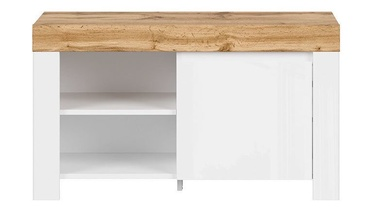 Шкаф для обуви Black Red White Holten REG1D Wotan Oak/White, 925x370x530 мм