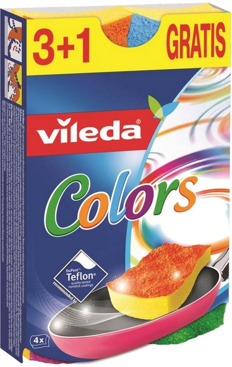 Vileda Pur Active Color 3+1pcs