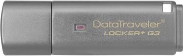 USB mälupulk Kingston DataTraveler Locker+ G3, USB 3.0, 16 GB