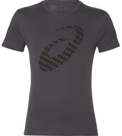 Asics Silver Graphic Short Sleeve T-Shirt 2011A328 020 Grey XL