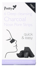 Pretty Smooth Deep Cleansing Charcoal Nose Pore Strips 6pcs