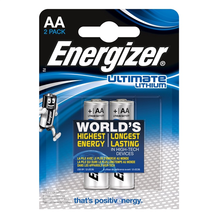 Energizer Ultimate Lithium Battery AA 2pcs