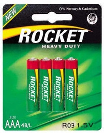 Rocket R03-4BB Heavy Duty AAA Batteries 4x