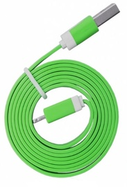 Global Technology Flat USB Lightning Cable For Apple 8pin Green