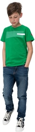 Audimas Junior Cotton Printed Tee Jolly Green 164