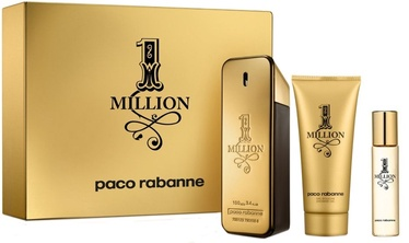 Komplekt meestele Paco Rabanne 1 Million 100 ml EDT + 100 ml Shower Gel + 10 ml EDT
