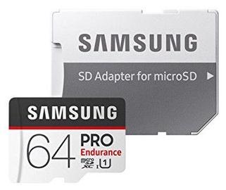 Samsung 64GB PRO Endurance microSD Card + Adapter