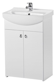 Cersanit Bathroom Cabinet With Washbasin And Mixer White