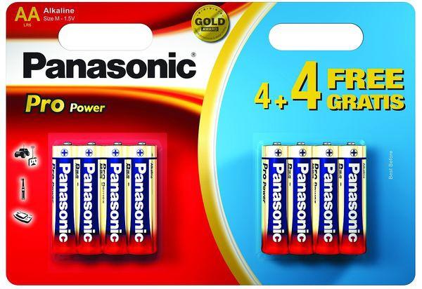 Panasonic LR6PPG Pro Power 4+4 x AA