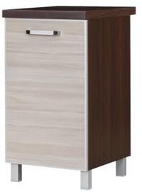 Alumine köögikapp Bodzio Ola 45 Gloss Right Latte, 450x520x860 mm