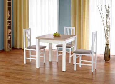 Обеденный стол Halmar Gracjan, белый/ольха, 800 - 1600x800x760мм