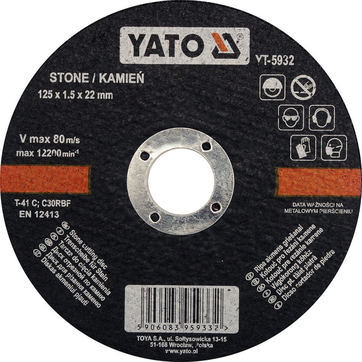 Yato YT-5932 Stone Cutting Disc 125mm