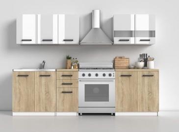 Top E Shop Kitchen Furniture Set 200 Sonoma Oak/White Gloss