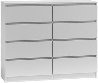 Kummut Top E Shop Malwa M8 White, 120x40x97 cm