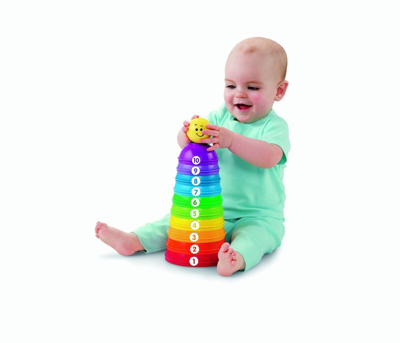 Klotsid Fisher-Price Brilliant Basics Stack & Roll Cups W4472