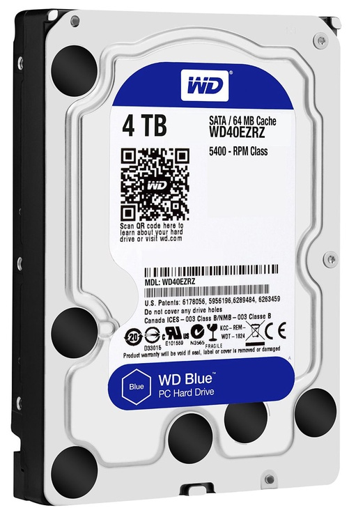 Western Digital Blue HDD 4TB 5400RPM SATA3 64MB WD40EZRZ