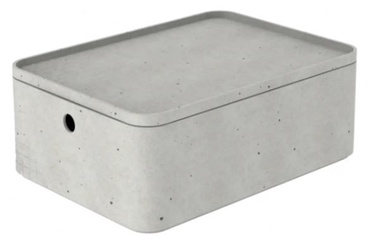 Curver Beton Box Rectangle With Lid M 6.5l Grey