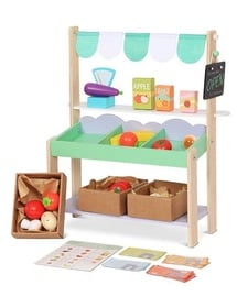 EcoToys Wooden Stall Shop With Accessories