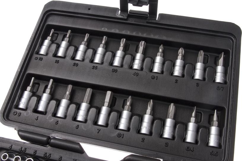 """Padrunvõtmete komplekt Forte tools 216006/8303, 4-14 mm, 1/4"""", 51 tk"""