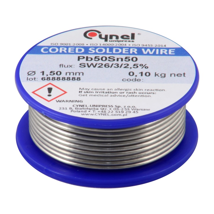 Cynel Unipress Cored Solder Wire 1.5mm 100g