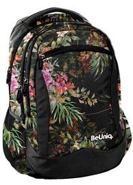 Paso BeUniq Flowers School Backpack w/ Pencil Case & Wallet Dark Multicolor