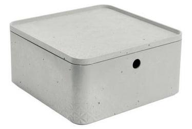 Curver Beton Box Half Cube With Lid L 8.5l Grey