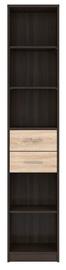 Black Red White Nepo Bookshelf REG2S/40 Wenge/Oak Sonoma