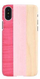 Man&Wood Pink Pie Back Case For Apple iPhone X/XS White