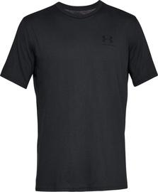 Under Armour Mens Sportstyle Left Chest SS Shirt 1326799-001 Black M
