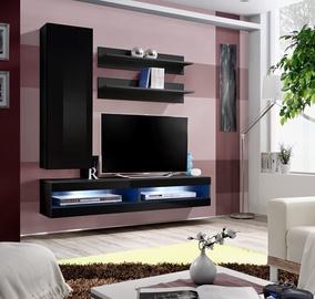 ASM Fly S4 Living Room Wall Unit Set Black