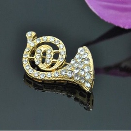 Vincento Brooch With Zirconium Crystal LD-1182