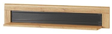 Szynaka Meble Kama 34 Wall Shelf Camargue Oak/Black Matt